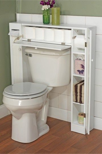 Decorar Un Baño Sencillo:Visto en: http://wwwtruspercom/tips/Great-OverTheToilet-Storage