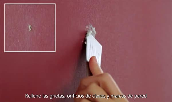 reparar imperfecciones pared